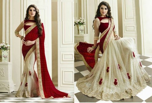 Weight Less Georgette saree SS-580