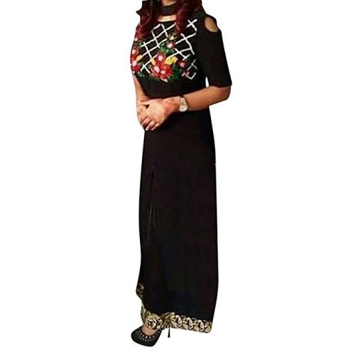 Black Georgette Unstitched Salwar Kameez
