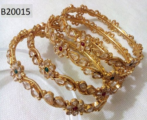 Gold Plated jewelry ornaments Bangles B-20015(2 pcs)