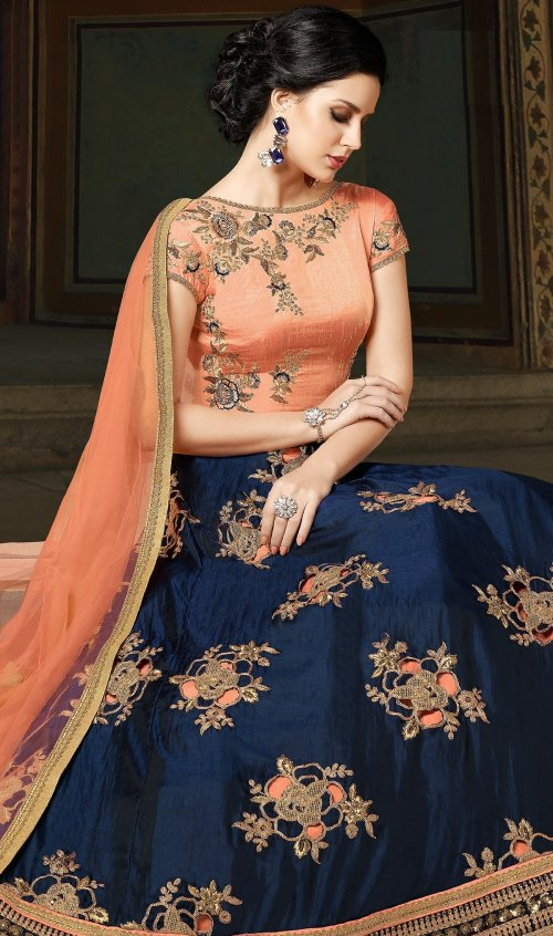 georgette with Embroidery Floor Length Designer salwar suit sonal 027