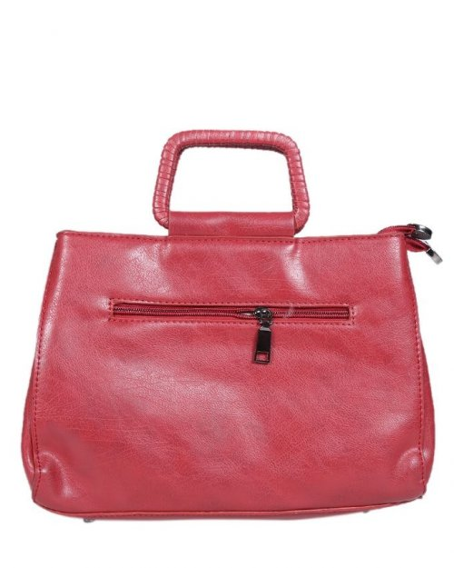 Leather Shoulder Bag - Red sl38