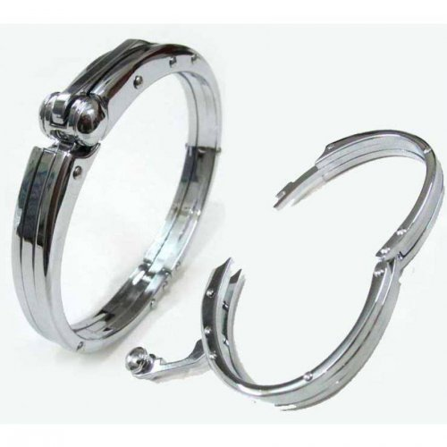 Handcuff Bracelet for Men (Full Silver)