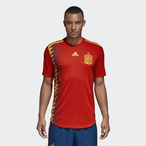 world cup 2018 spain half sleeve jersey