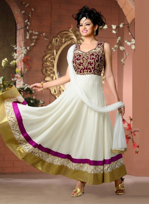 Anarkali suits style salwar kameez gown 246d