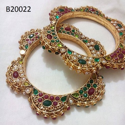 Gold Plated jewelry ornaments Bangles B-20022 (2 pcs)