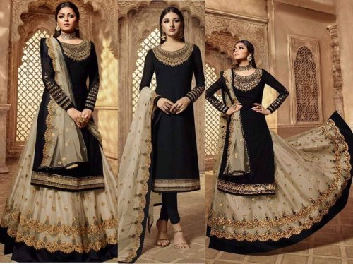 Semi-stitch Georgette Bridal Lehenga and Ghagra Choli
