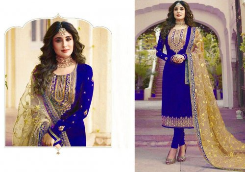 Unstitched Georgette Party Wear Designer Churidar Suit