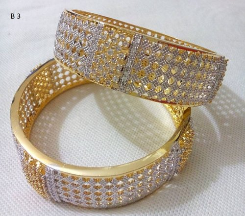 Gold Plated jewelry ornaments Diamond Cut Bangles B-3