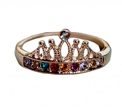 crown style finger ring multicolor