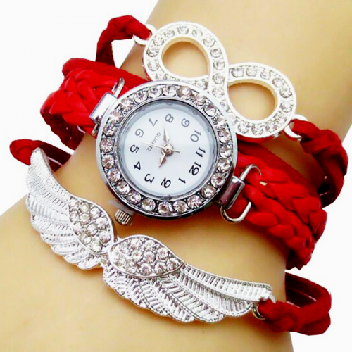 Bird Shape Leather Bracelet Watch