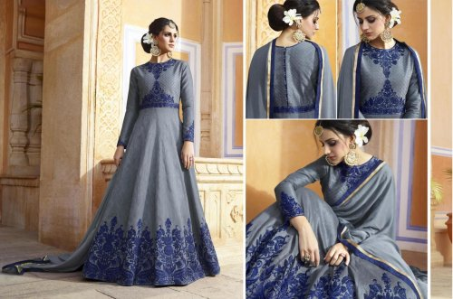 Un-stitched georgette embroidery salwar suit d.no-373