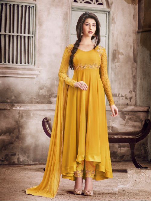Faux Georgette Embroidery Anarkali Salwar Suit NAIRA-1029A
