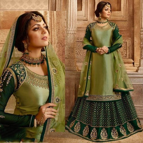 Semi-stitched geogette salwar kameez for woman
