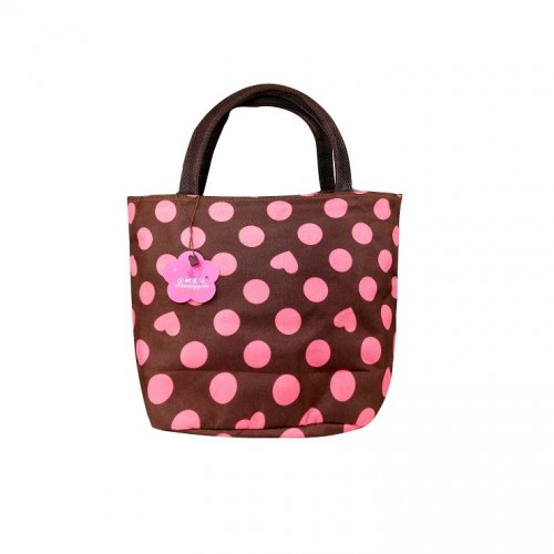 Coffee and pink ladies hand bag