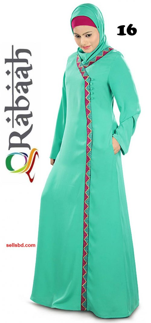 Fashionable muslim dress islamic clothing Rabaah Abaya Burka borka 16