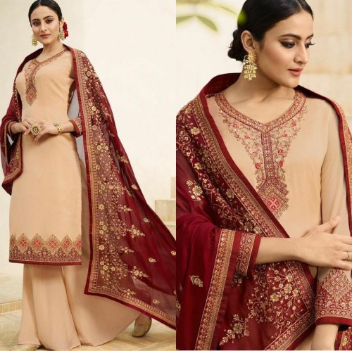 ZUBEDA NIRVAA BEAUTIFUL PARTY WEAR DRESSES EMBROIDERED SALWAR KAMEEZ FOR WOMEN