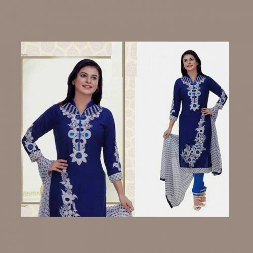 Unstitched Cotton Block Printed Salowar Kameez seblock-340