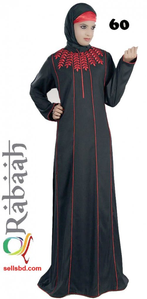 Fashionable muslim dress islamic clothing Rabaah Abaya Burka borka 60