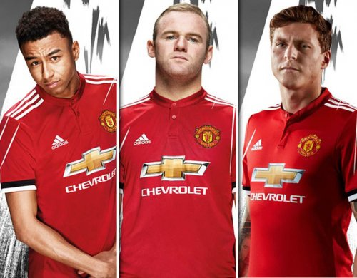 Manchester United unveil new 2017-18 jersey