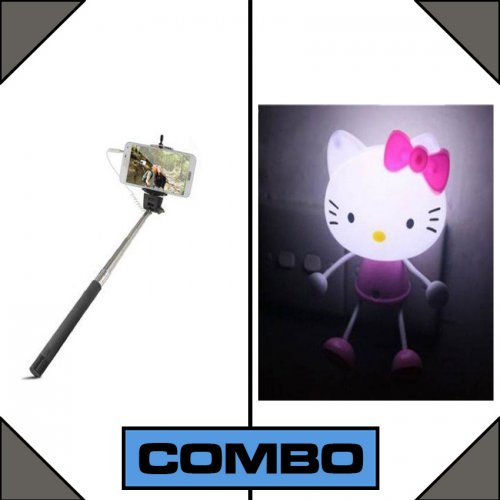 Combo of Selfie Stick + LED Lamp
