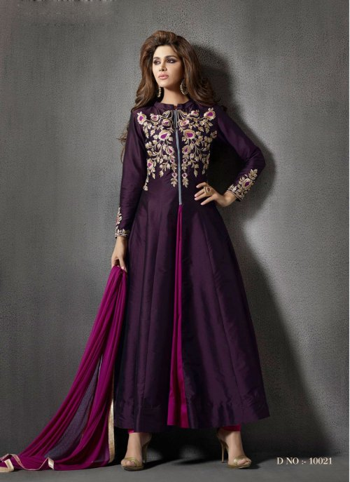 ROZDEAL NEW BEAUTIFUL PURPLE COLOR ANARKALI SUIT