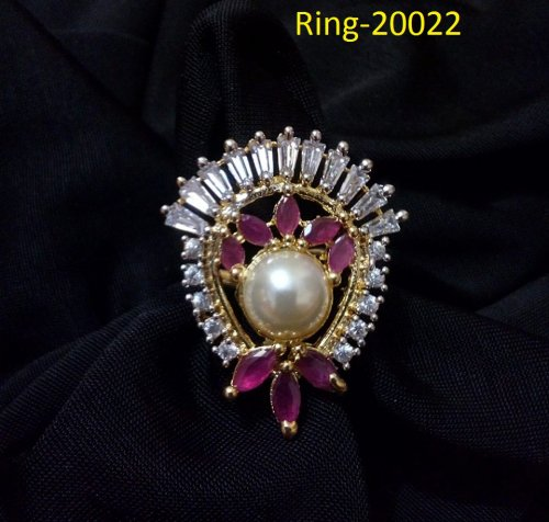 Gold Plated jewelry ornaments Diamond Cut Finger Ring Ring-20022
