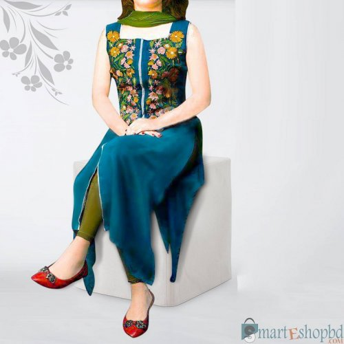 Embroidery cotton dress for woman