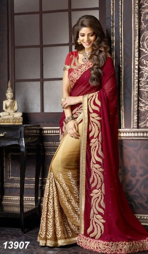 Weight Less Georgette saree SS-234