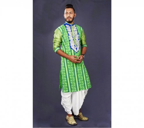 Menz cm long embroidery Cotton Punjabi