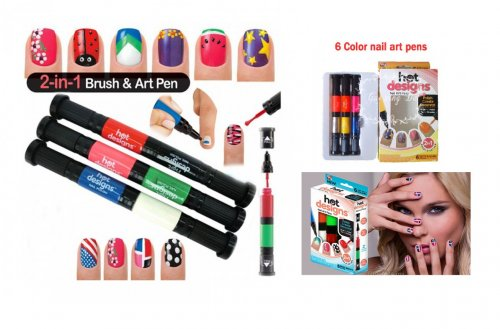 2 in 1 Nail Brush & Art Starter Basic Kit Pens
