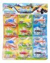 PULL BACK FIGHTER PLANES (12 PIECES SET)