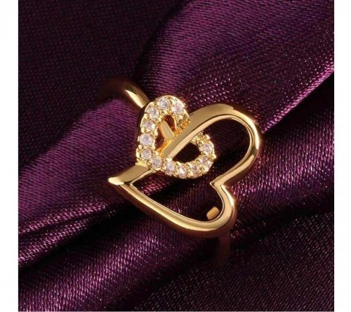 ladies golden stone ring