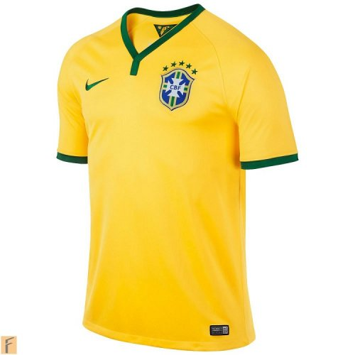 Brasil World Cup Home Jersey Half Sleeve
