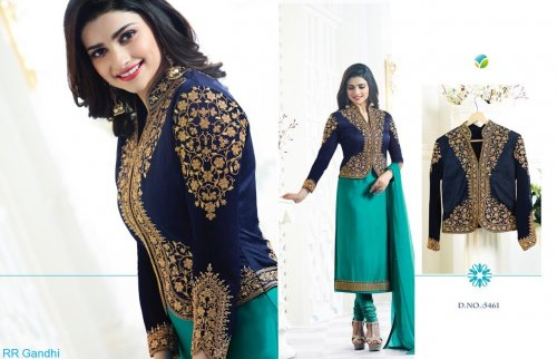 Green unstiched Three Piece KA 5461D soft georgette salwar kameez