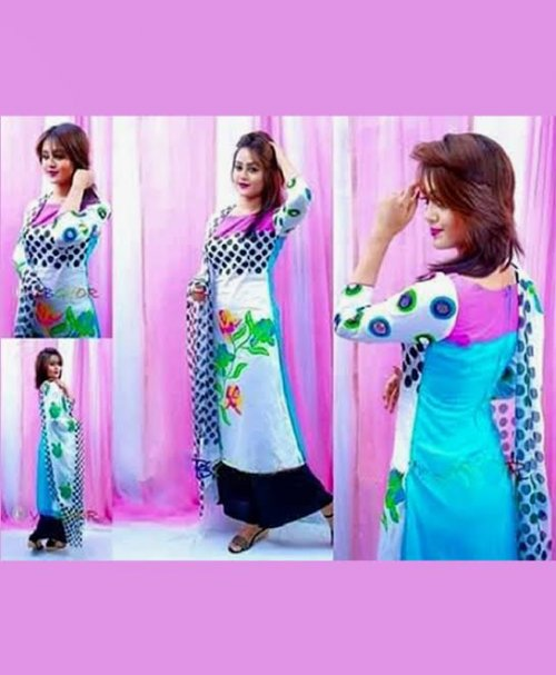 Unstitched Cotton Block Printed Salowar Kameez seblock-309