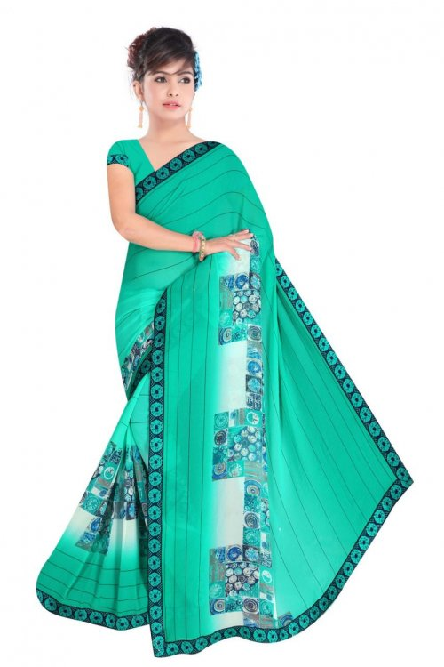 Indian Paste Silk Printed saree For women