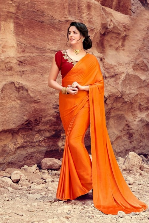 satin silk saree satin silk 6