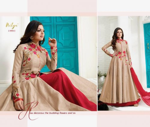 LT NITYA SUIT Gorgeious Designer Wedding And party Wear Floor Touch party dress