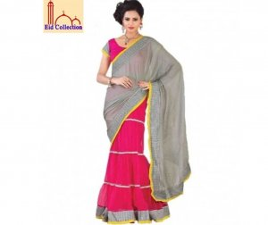 Exclusive stylish party georgette sari