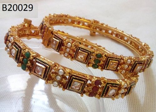 Gold Plated jewelry ornaments Bangles B-20029(2 pcs)