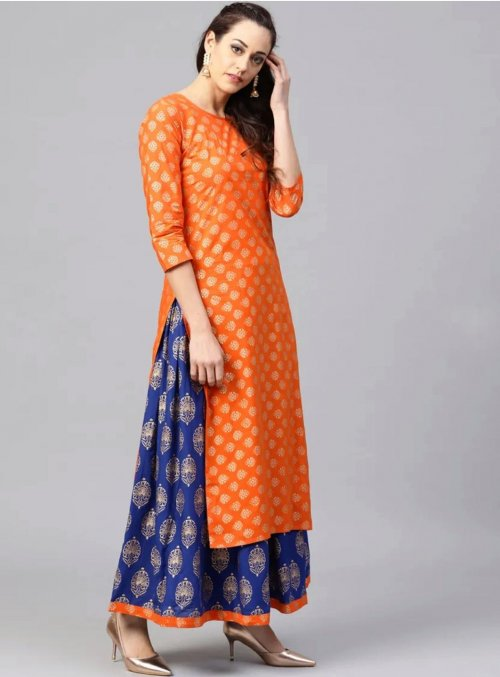 Latest Block Printed 2 piece Salwar Kameez for Women