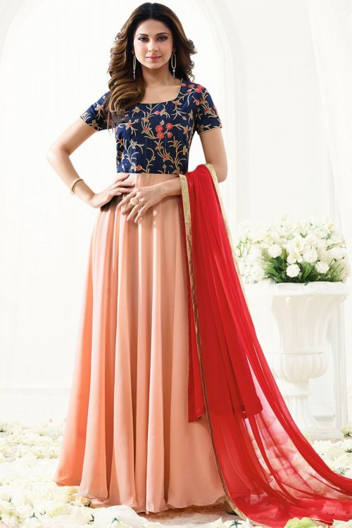 embroidery georgette Floor Length Anarkali Suit jenifar 023