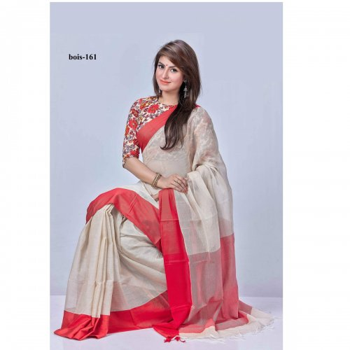 Mosline Cotton saree bois-161