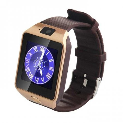 """DZ09 Single SIM Smart Watch - Golden"