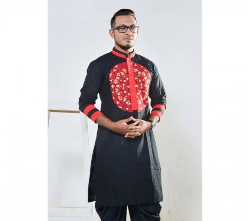 Menz Punjabi embroidery Cotton