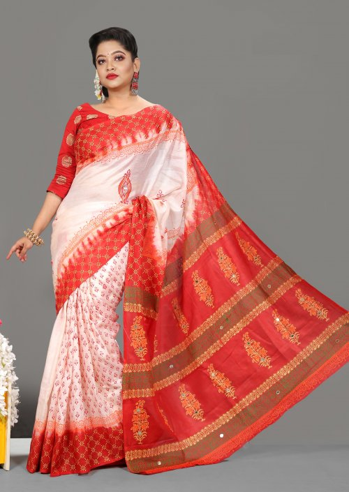 Chinon Batic & Butics Saree for Woman bois-298