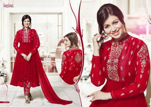 BEAUTIFUL STYLISH GEORGETTE WITH EMBROIDERY WORK salwar kameez suit ayesha 012