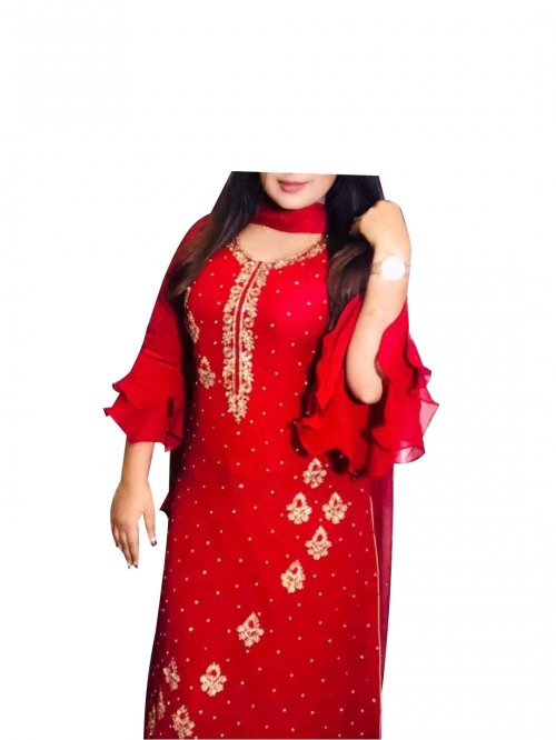 New stylish block printed salwer kameez for woman-free size