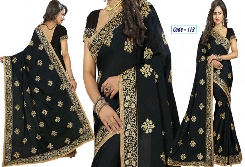 Weight Less Georgette saree Hp-113