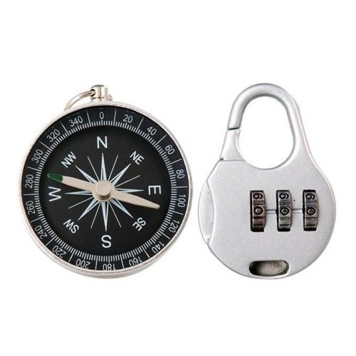 Resetable Combination Pad Lock with Compass